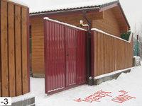 Фото 29 - Откатные ворота с врезной калиткой