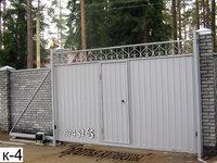Фото 32 - Откатные ворота с врезной калиткой