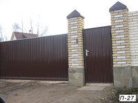 Фото 35 - Откатные ворота с отдельной калиткой