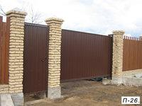 Фото 34 - Откатные ворота с отдельной калиткой